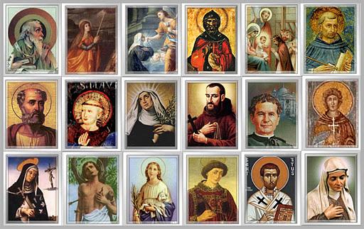 Resultado de imagem para santos padroeiros na biblia